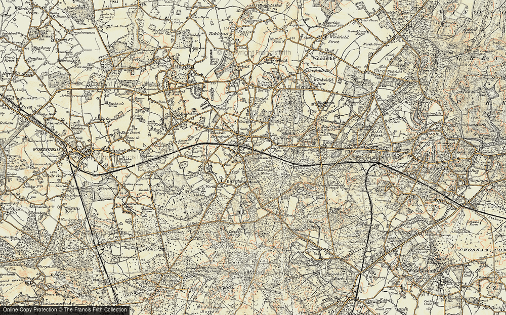 Old Map of Harmans Water, 1897-1909 in 1897-1909