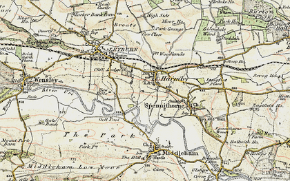 Old map of Harmby in 1904