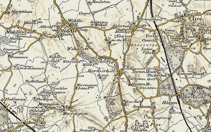 Old map of Lea Hall in 1902