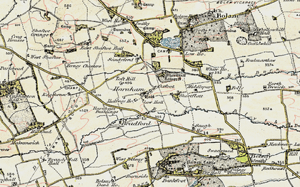 Old map of Toft Hill in 1901-1903