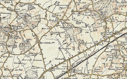 Old map of Harold Hill in 1898