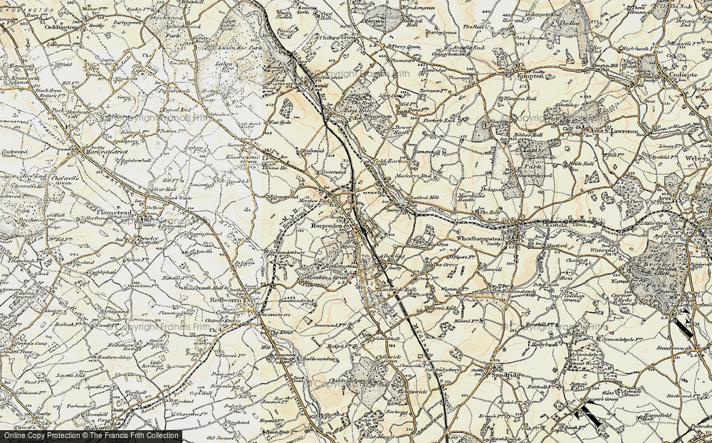 Old Map of Harpenden, 1898-1899 in 1898-1899