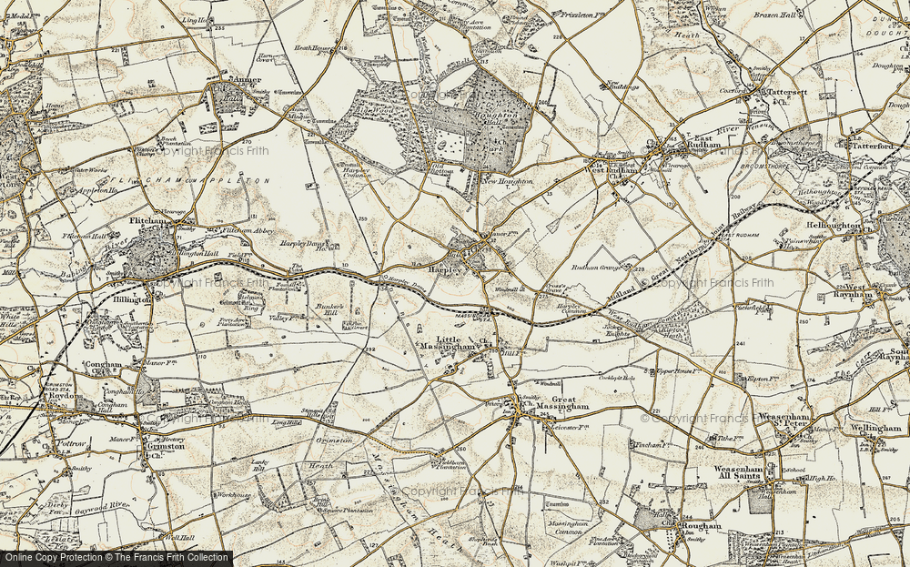 Old Map of Harpley, 1901-1902 in 1901-1902