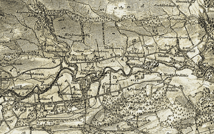 Old map of Laverockbank in 1907-1908