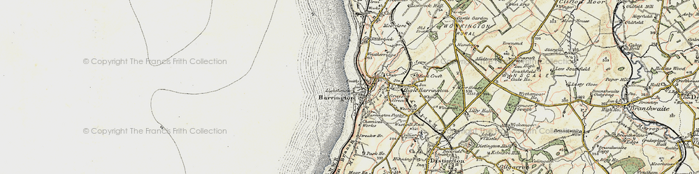 Old map of Harrington in 1901-1904