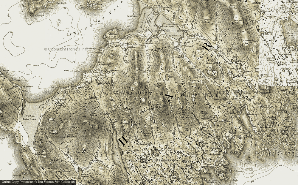 Old Map of Historic Map covering Allt Dritil in 1908-1911