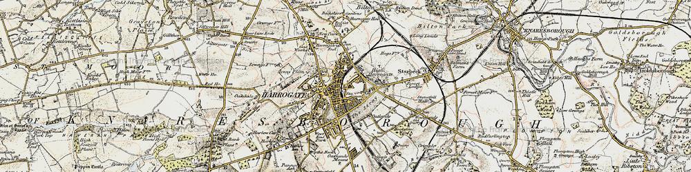 Old map of Harrogate in 1903-1904