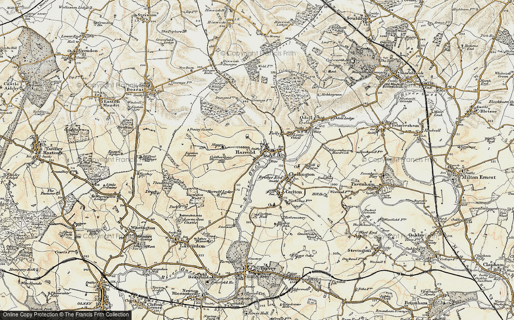 Old Map of Historic Map covering Lavendon Wood in 1898-1901