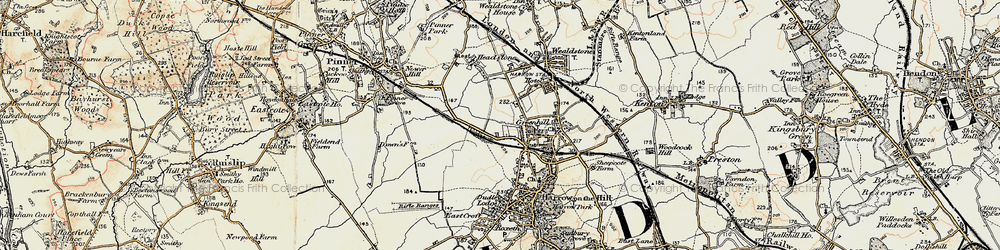 Old map of Harrow in 1897-1898
