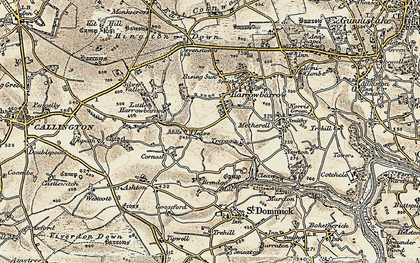Old map of Ashton in 1899-1900