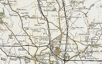 Old map of Whessoe Cott in 1903-1904