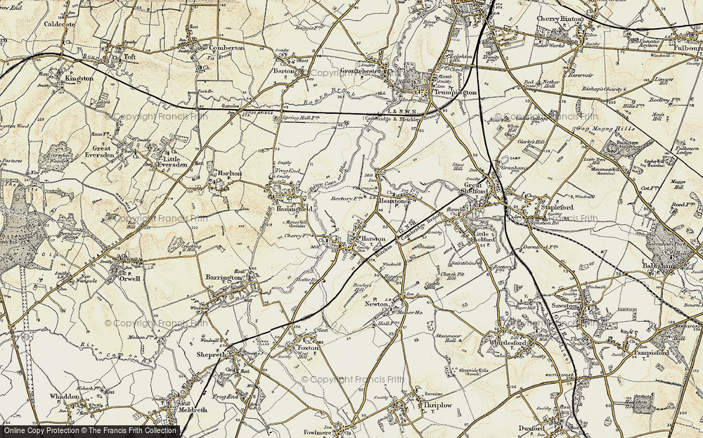 Old Map of Harston, 1899-1901 in 1899-1901