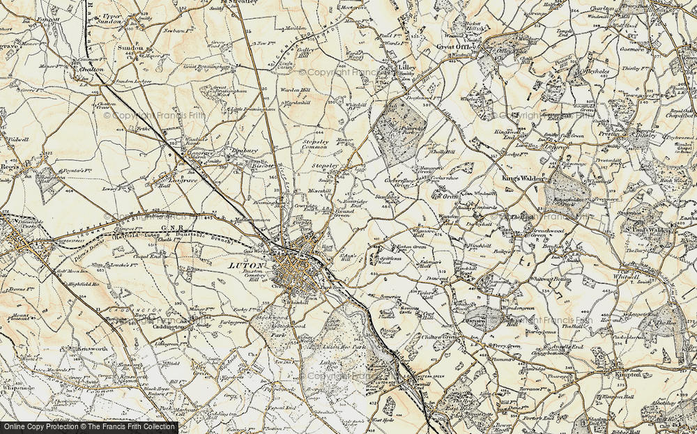 Old Map of Hart Hill, 1898-1899 in 1898-1899