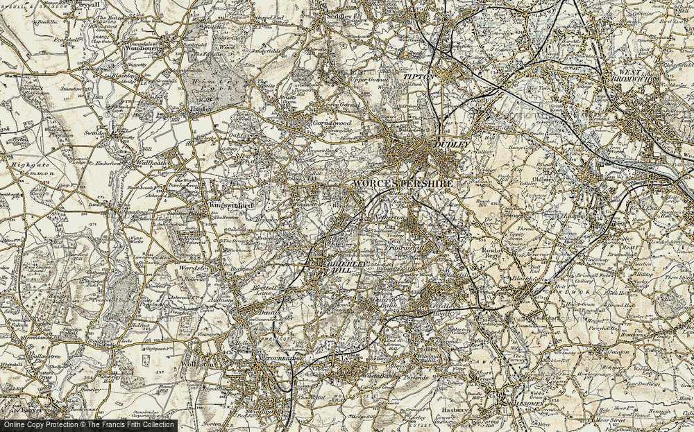 Old Map of Hart's Hill, 1902 in 1902