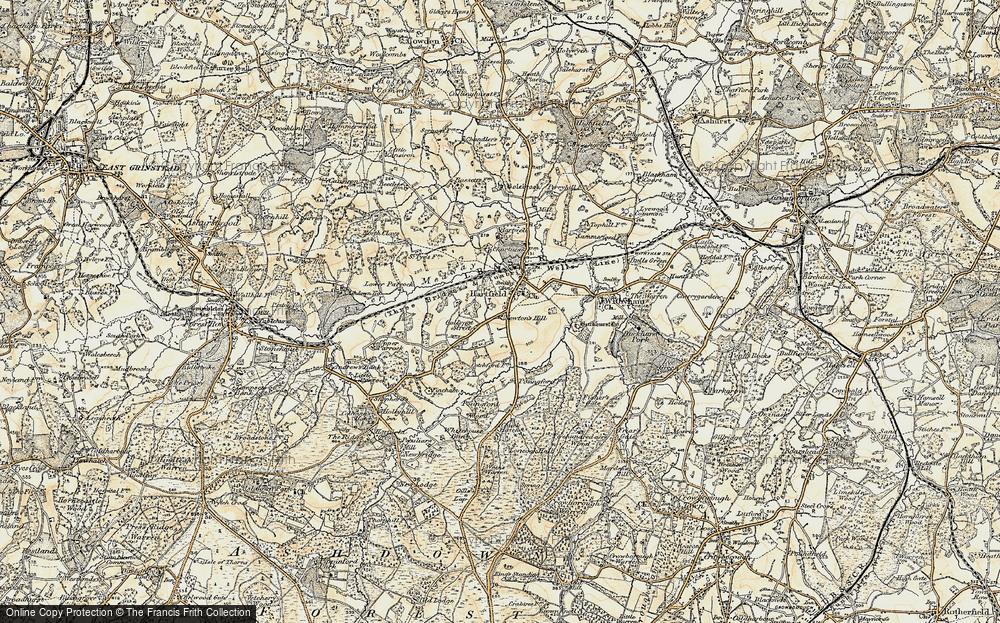 Old Map of Hartfield, 1898-1902 in 1898-1902