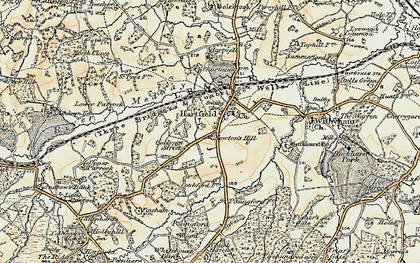 Old map of Hartfield in 1898-1902