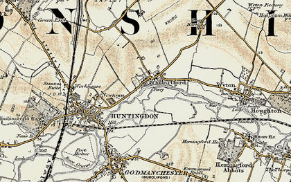 Old map of Hartford in 1901