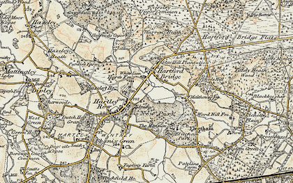 Old map of Elvetham Hall in 1897-1909