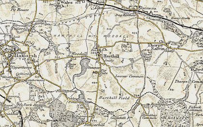 Old map of Woodall in 1902-1903