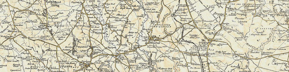 Old map of Hartington in 1902-1903