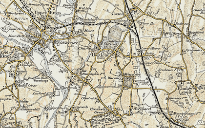Old map of Hartlebury in 1901-1902
