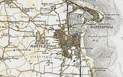 Old map of Hartlepool in 1903-1904