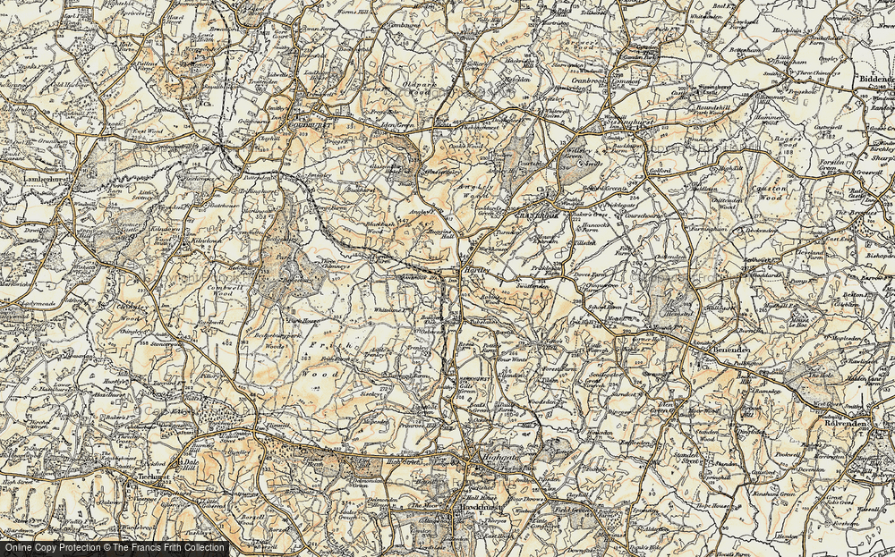 Old Map of Historic Map covering Whitelimes in 1897-1898