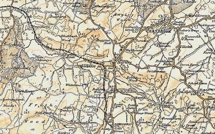 Old map of Badger's Oak in 1897-1898