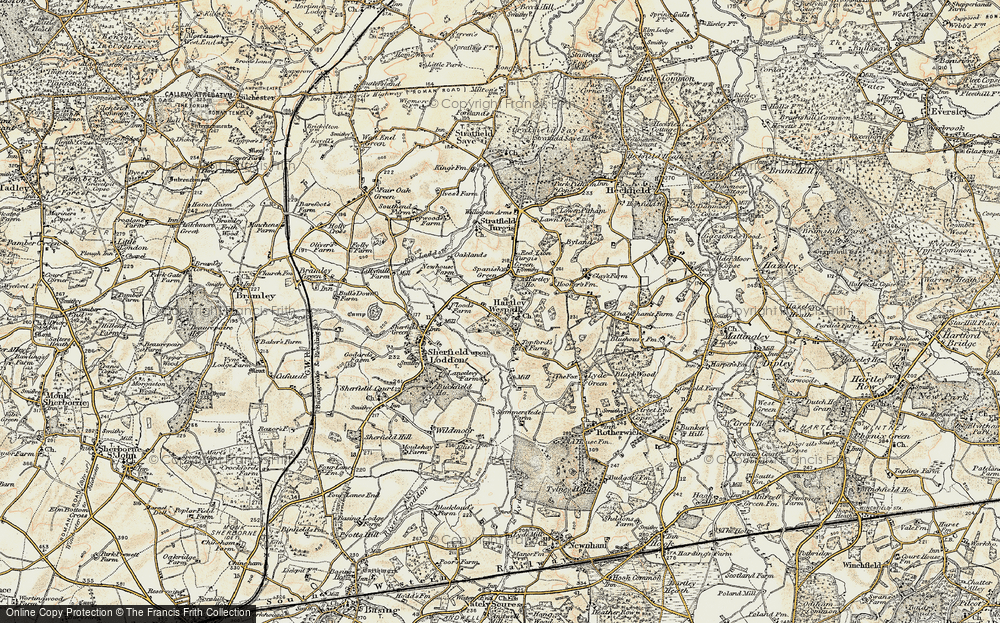 Old Map of Hartley Wespall, 1897-1900 in 1897-1900