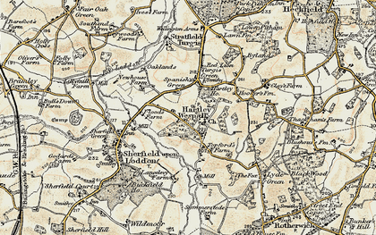 Old map of Hartley Wespall in 1897-1900