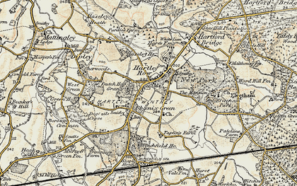 Old map of Hartley Wintney in 1897-1909