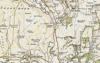 Old map of Abraham's Hut (Cairn) in 1903-1904