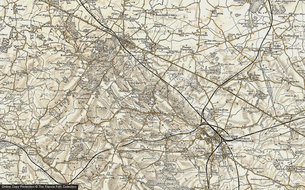 Old Map of Historic Map covering Woodford Br in 1901-1903