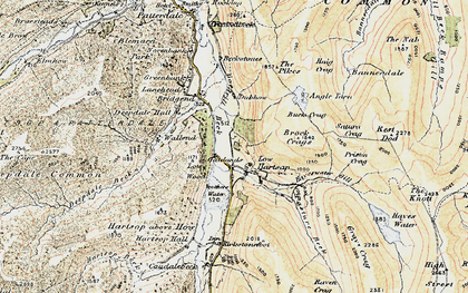 Old map of Lingy Crag in 1904