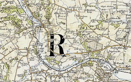 Old map of Wilson's Plantn in 1903-1904
