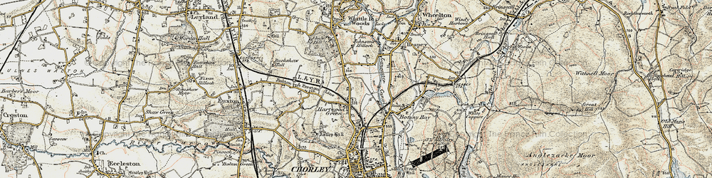 Old map of Hartwood in 1903