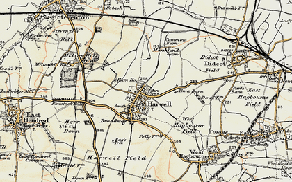 Old map of Harwell in 1897-1898