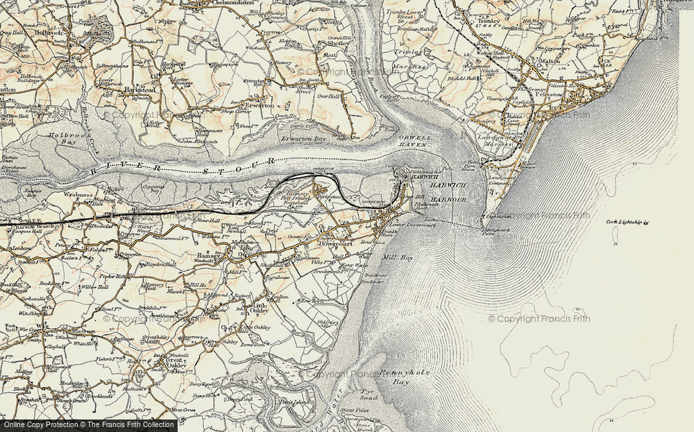 Old Map of Harwich, 1898-1899 in 1898-1899