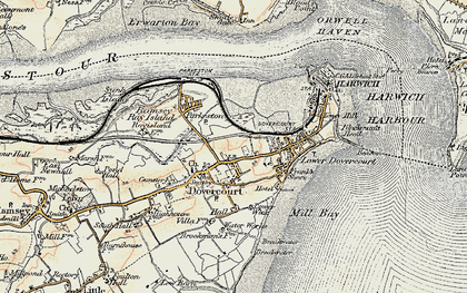Old map of Harwich in 1898-1899