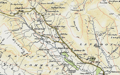 Old map of Langdon Common in 1904