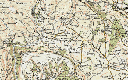 Old map of West Syme in 1903-1904