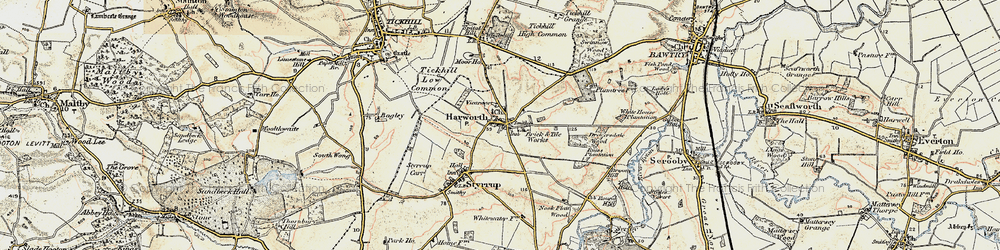 Old map of Harworth in 1903