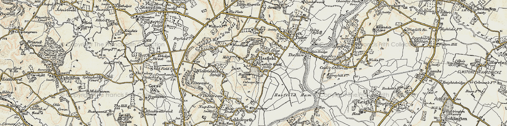 Old map of Tirley Court in 1899-1900