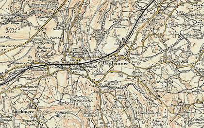 Old map of Haslemere in 1897-1900