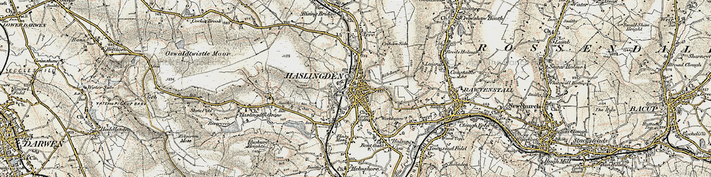 Old map of Haslingden in 1903