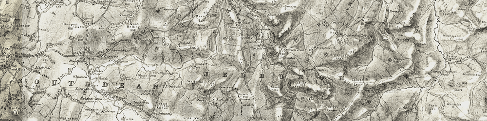 Old map of Wooplaw in 1901-1904