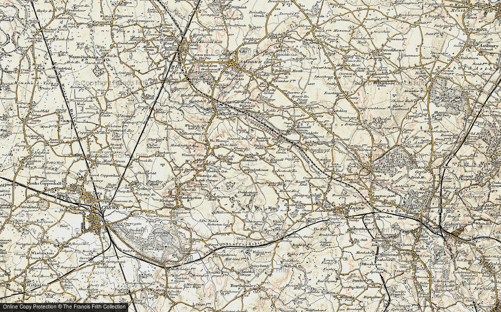 Old Map of Hassall, 1902-1903 in 1902-1903