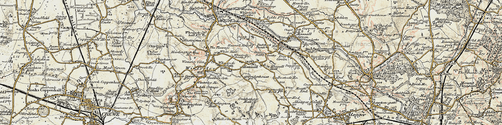 Old map of Hassall in 1902-1903