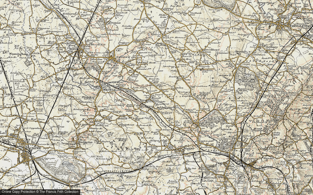Old Map of Hassall Green, 1902-1903 in 1902-1903