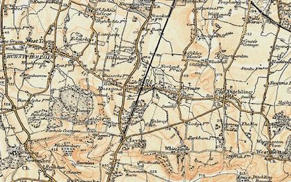Old map of Woodside Kennels in 1898
